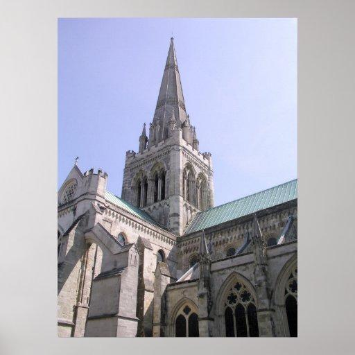 Catedral de Chichester, Sussex, Reino Unido Poster