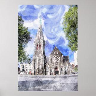 Catedral de Christchurch, poster del arte del