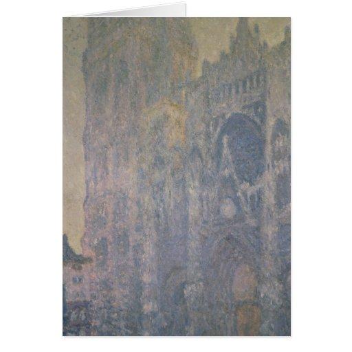 Catedral de Claude Monet el | Ruán, armonía en Tarjeta De Felicitación