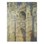Catedral de Claude Monet el | Ruán en luz del sol Postales