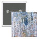 Catedral de Claude Monet el | Ruán Pin Cuadrado