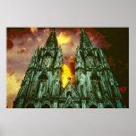 Catedral de Colonia con el sol Impresiones