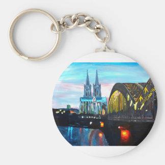 Catedral de Colonia con Hohenzollernbridge Llavero