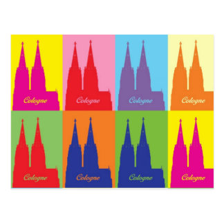 Catedral de Colonia pop especie Postal