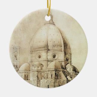 Catedral de Florencia del este, de 'fragmentos Adorno Redondo De Cerámica
