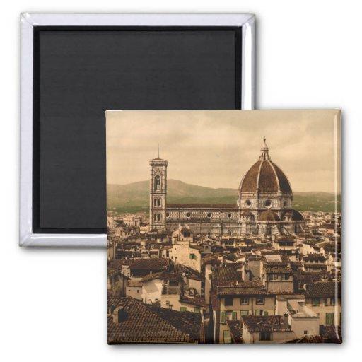 Catedral de Florencia, Toscana, Italia Imán Cuadrado