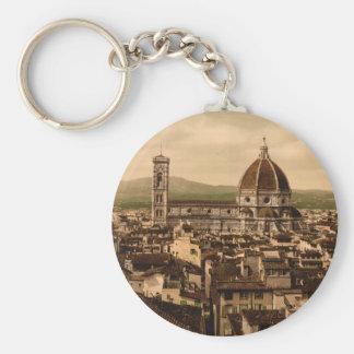 Catedral de Florencia, Toscana, Italia Llavero Redondo Tipo Pin