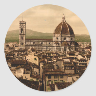 Catedral de Florencia, Toscana, Italia Pegatina Redonda