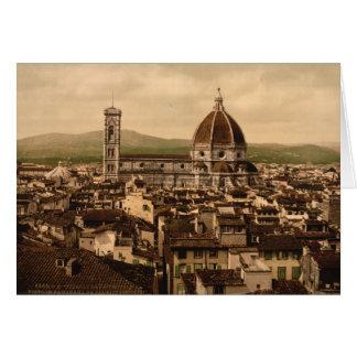Catedral de Florencia, Toscana, Italia Tarjeton