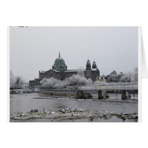 Catedral de Galway en helada Tarjeta