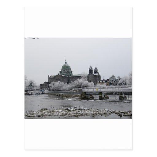 Catedral de Galway en helada Tarjetas Postales