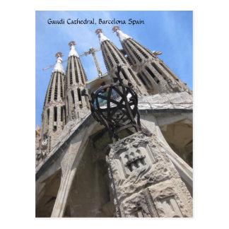 Catedral de Gaudi, postal de Barcelona España