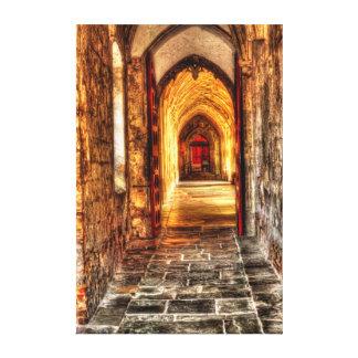 """Catedral de Gloucester del vestíbulo, 38"""" x 57"""" Impresión En Lienzo"""