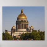 Catedral de Isaac del santo, del río de Neva Posters