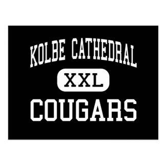 Catedral de Kolbe - pumas - alta - Bridgeport Tarjetas Postales