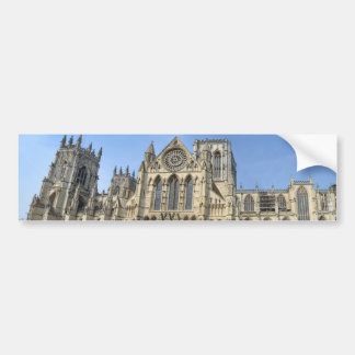 Catedral de la iglesia de monasterio de York Pegatina De Parachoque