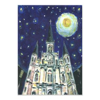 """Catedral de la noche estrellada invitación 5"""" x 7"""""""