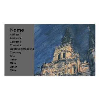 Catedral de la noche, plantillas de tarjetas personales