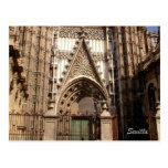Catedral de la postal del facede de Sevilla
