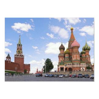 """Catedral de la Santo-Albahaca en Moscú Invitación 5"""" X 7"""""""
