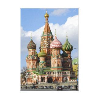 Catedral de la Santo-Albahaca en Moscú Lienzo Envuelto Para Galerías