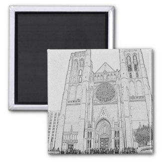 Catedral de la tolerancia imán cuadrado