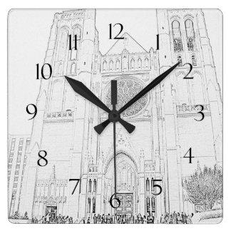 Catedral de la tolerancia reloj cuadrado