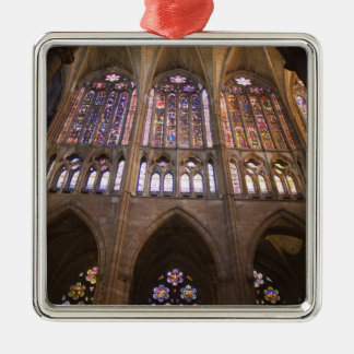 Catedral de Leon, interior stained glass windows 2 Christmas Tree Ornaments
