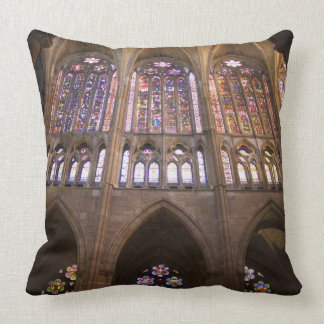 Catedral de Leon, interior stained glass windows 2 Pillow