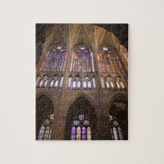 Catedral de Leon, interior stained glass windows 2 Jigsaw Puzzles