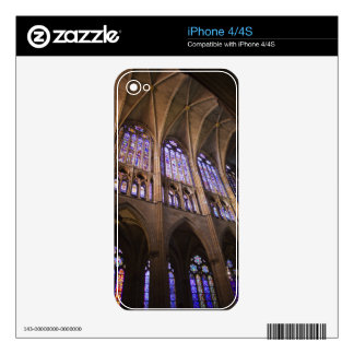 Catedral de Leon, interior stained glass windows Decal For iPhone 4