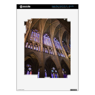 Catedral de Leon, interior stained glass windows Decals For iPad 3
