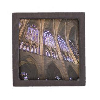 Catedral de Leon, interior stained glass windows Keepsake Box