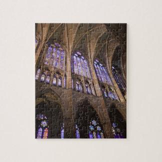 Catedral de Leon, interior stained glass windows Puzzle