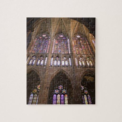Catedral de León, vitrales interiores 2 Puzzles Con Fotos