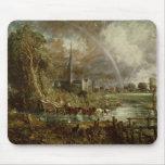 Catedral de los prados, 1831 de Salisbury Alfombrilla De Ratones