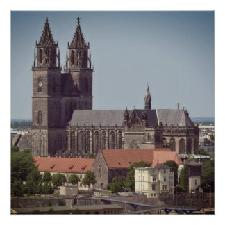 Catedral de Magdeburgo 001.F.06 Perfect Poster