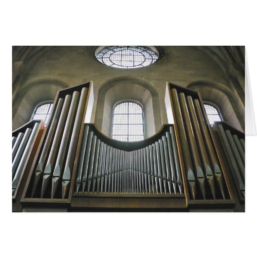 Catedral de Maguncia, Alemania, tarjeta del órgano