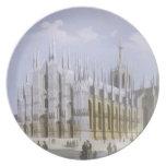 Catedral de Milano de 'vistas de Milano y de su En Platos Para Fiestas