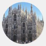 Catedral de Milano, Italia Etiquetas Redondas