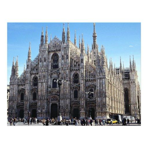 Catedral de Milano, Italia Tarjetones