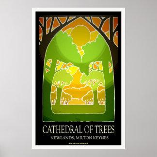 Catedral de Milton Keynes del arte/de la impresión Póster