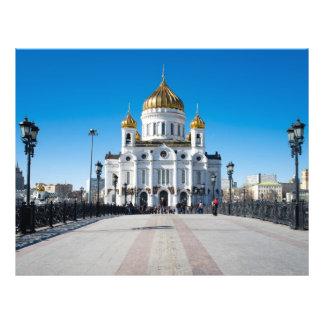 """Catedral de Moscú el Cristo el salvador Folleto 8.5"""" X 11"""""""