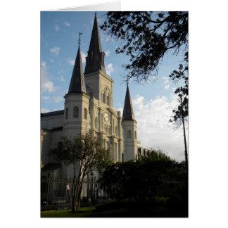 Catedral de New Orleans, barrio francés Tarjetón