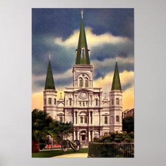 Catedral de New Orleans Luisiana St. Louis Póster