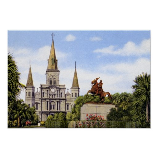 Catedral de New Orleans Luisiana St. Louis Posters