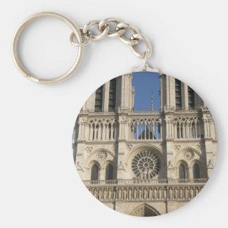 Catedral de Notre Dame en París Llavero Redondo Tipo Pin