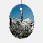 Catedral de Notre Dame Ornamento De Navidad