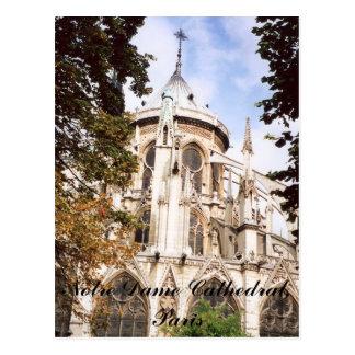 Catedral de Notre Dame, postal de París