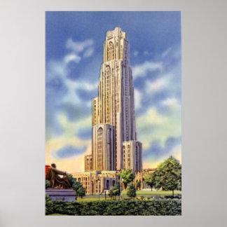 Catedral de Pittsburgh Pennsylvania del aprendizaj Póster